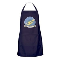 Retro Trumpet Burst Apron (dark)