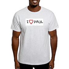 I Love PAUL Ash Grey T-Shirt