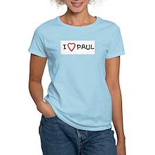 I Love PAUL Women's Pink T-Shirt