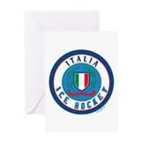 IT Italia Italy Ice Hockey Greeting Card