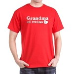 Grandma of Twins Dark T-Shirt