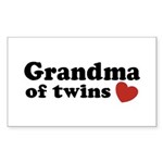 Grandma of Twins Rectangle Sticker 10 pk)