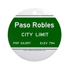 Paso Robles Ornament (Round)