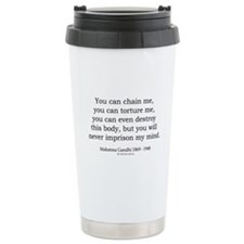 Mahatma Gandhi 31 Ceramic Travel Mug