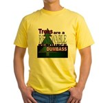 Renewable Dumbass Yellow T-Shirt