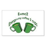 E=mc2 Rectangle Sticker