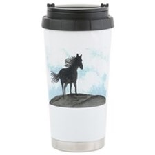 Stallion Silhouette Ceramic Travel Mug