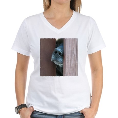 The Nose Knows Women's V-Neck T-Shirt