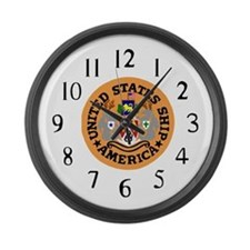 USS America (CVA 66) Large Wall Clock