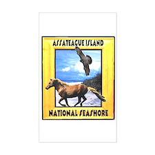 Assateague island national Se Rectangle Decal