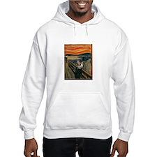 The Scream with Cats Hoodie Sweatshirt