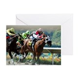 Race horses Greeting Cards