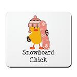 Snowboard Chick Mousepad