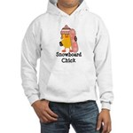 Snowboard Chick Hooded Sweatshirt