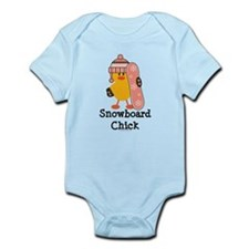 Snowboard Chick Infant Bodysuit