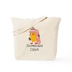 Snowboard Chick Tote Bag