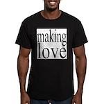 7001. making love Men's Fitted T-Shirt (dark)