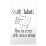 South Dakota Sheep Rectangle Sticker 10 pk)