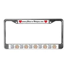 Chubby Chins and Hedgies License Plate Frame