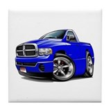 Dodge Ram Blue Truck Tile Coaster