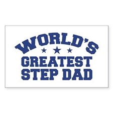 World's Greatest Step Dad Rectangle Decal