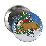 Christmas Flyball Button (Cartoon)