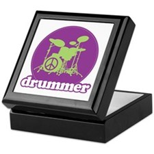 Cool Retro Drummer Keepsake Box