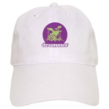 Cool Retro Drummer Baseball Cap