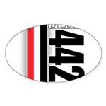 Oldsmobile 442 Oval Sticker (50 pk)