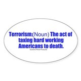 anti-obama anti-taxes - Oval Decal