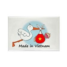 Stork Baby Vietnam Rectangle Magnet