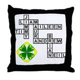REILLY SCRABBLE-STYLE Throw Pillow
