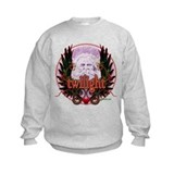 Twilight Santa Winged Crest Wreath Sweatshirt