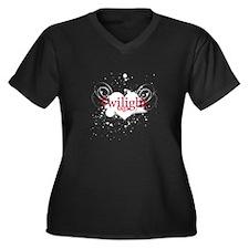 Twilight saga Women's Plus Size V-Neck Dark T-Shir