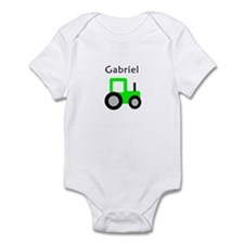 Gabriel - Lime Green Tractor Infant Bodysuit
