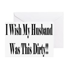 Dirty Husband Greeting Cards (Pk of 10)