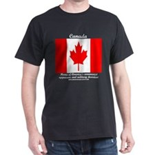 Canada: Home of military dese Black T-Shirt