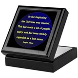 Funny Adams quotation Keepsake Box