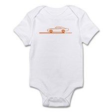 1968-70 Charger Orange Car Infant Bodysuit