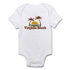 Virginia Beach VA - Sun and Palm Trees Design Infa