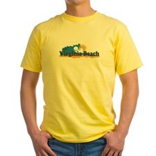 Virginia Beach VA - Sun and Waves Design T