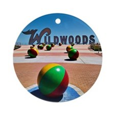 Round Ornament- Wildwoods Sign
