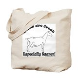 Goat are Great Tote Bag - Saanen Design