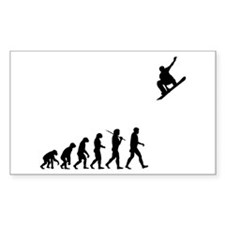 Snowboarding Rectangle Stickers