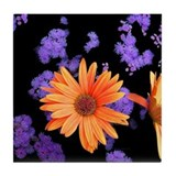 Orange Petals Tile Coaster