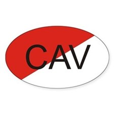 Cavalry Oval Decal