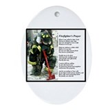 Old Version Firefighter Prayer Ornament (Oval)