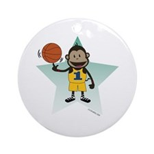 BBall Monkey Ornament (Round)
