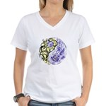 Yin Yang Earth Women's V-Neck T-Shirt