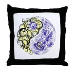Yin Yang Earth Throw Pillow